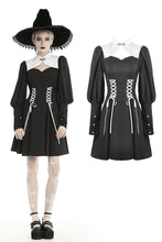 Load image into Gallery viewer, Gothic witch lace up longsleeves dress DW443