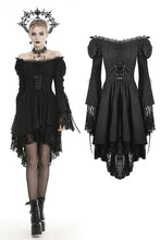 Load image into Gallery viewer, Gothic decadent longsleeves cocktail dress DW445