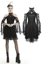 Load image into Gallery viewer, Gothic sexy halter off the shoulders lace dress  DW456