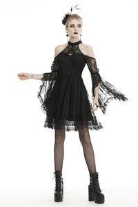 Gothic sexy halter off the shoulders lace dress  DW456