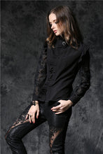 Load image into Gallery viewer, Haut dark blouse with asymmetric front and cord above the back IW071 - Gothlolibeauty