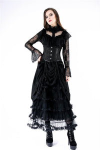 Gothic lolita hearted lace blouse IW076 - Gothlolibeauty