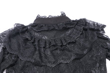 Load image into Gallery viewer, Gothic lolita hearted lace blouse IW076 - Gothlolibeauty