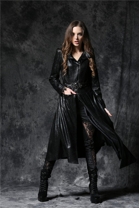 JW093 Gothique asymmetric bouffancy robe jacket with ghost belt - Gothlolibeauty