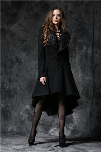 JW100 Gothic lady warn double-faced woolen cocktail robe jacket