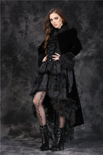 Load image into Gallery viewer, JW103 gothic velet cardigan with bow tie or lace shawl wear method cocktail jacket - Gothlolibeauty
