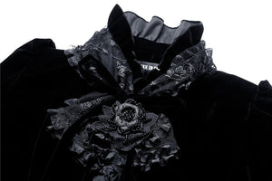 Gothic velet cardigan with bow tie or lace shawl wear method cocktail jacket JW103 - Gothlolibeauty