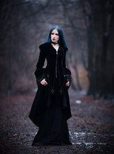 Load image into Gallery viewer, JW109 Gothic Witch mysterious velvet coat with detachable cross zipper