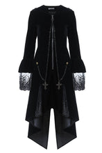 Load image into Gallery viewer, Gothic Witch mysterious velvet coat with detachable cross zipper JW109 - Gothlolibeauty