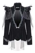 Load image into Gallery viewer, JW116 Gothic velvet jacket with swallow shoulder