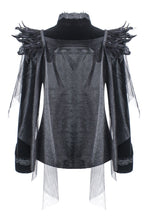 Load image into Gallery viewer, Gothic velvet jacket with swallow shoulder JW116 - Gothlolibeauty
