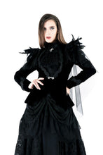Load image into Gallery viewer, JW116 Gothic velvet jacket with swallow shoulder - Gothlolibeauty