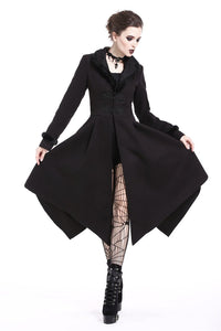 Gothic lady flower collar long coat JW167 - Gothlolibeauty