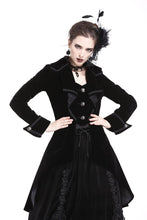 Load image into Gallery viewer, Gothic pleated long velvet jacket JW171 - Gothlolibeauty