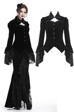 Load image into Gallery viewer, Gothic gorgeous bishop sleeves buttoned velvet jacket JW172 - Gothlolibeauty