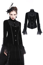 Load image into Gallery viewer, Gothic elegant lacey velvet blouse-shape jacket JW173 - Gothlolibeauty