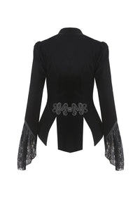 Gothic blouse-shape buttoned velvet jacket JW178 - Gothlolibeauty