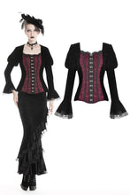 Load image into Gallery viewer, Vintage gothic black and red jacket JW187 - Gothlolibeauty
