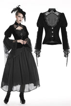 Load image into Gallery viewer, Elegant gothic velvet and lace jacket JW189 - Gothlolibeauty
