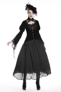 Elegant gothic velvet and lace jacket JW189 - Gothlolibeauty