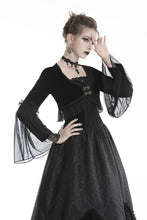 Load image into Gallery viewer, Gothic lolita velvet and mesh jacket JW192 - Gothlolibeauty