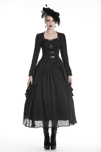 Victorian gothic tailcoat with jacquard fabric JW193 - Gothlolibeauty