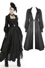 Load image into Gallery viewer, Women's lapel open front long cardigan gothic coat JW216