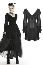 Load image into Gallery viewer, Gothic princess frilly bead button up thin coat JW221