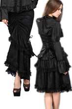 Load image into Gallery viewer, Multi-wear Packet hip long skirt KW061BK - Gothlolibeauty