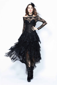 Halloween costumes Punk messy mesh and lace skirt KW106 - Gothlolibeauty