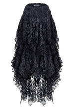 Load image into Gallery viewer, KW106 Punk messy mesh and lace skirt