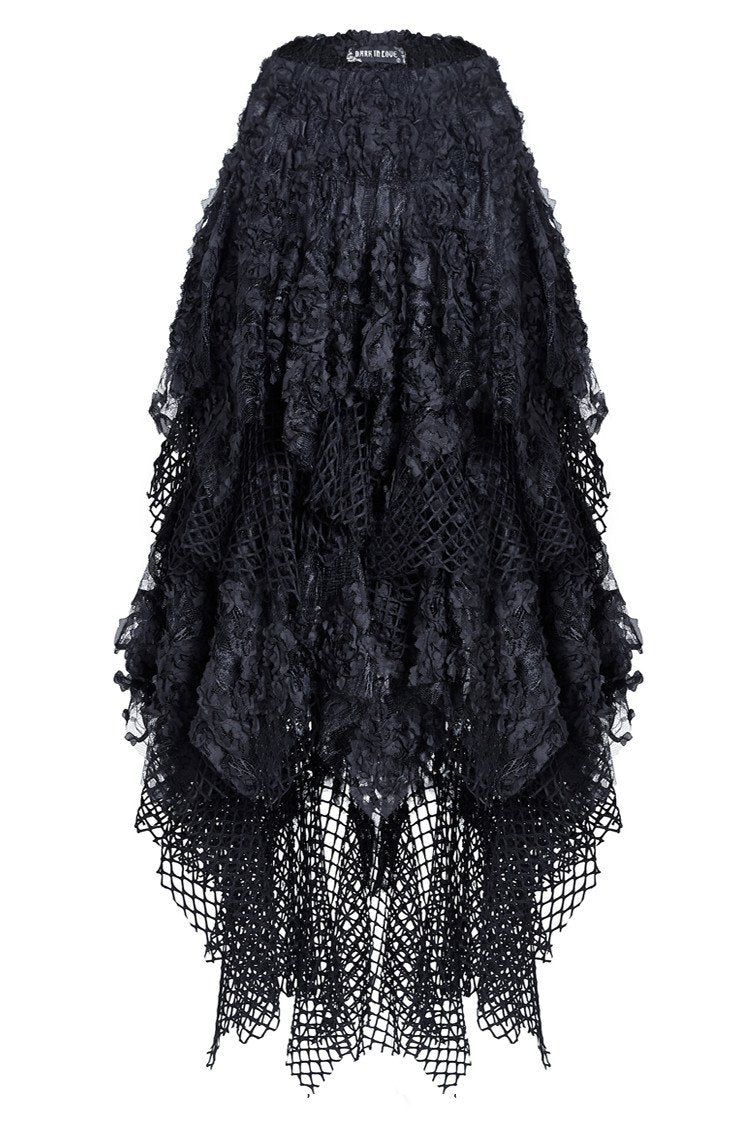 KW106 Punk messy mesh and lace skirt