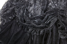 Load image into Gallery viewer, KW112 Gothic long skirt with luxuriant flocking lace