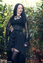 Load image into Gallery viewer, KW113 Gothic ring band cocktail chiffon skirt - Gothlolibeauty