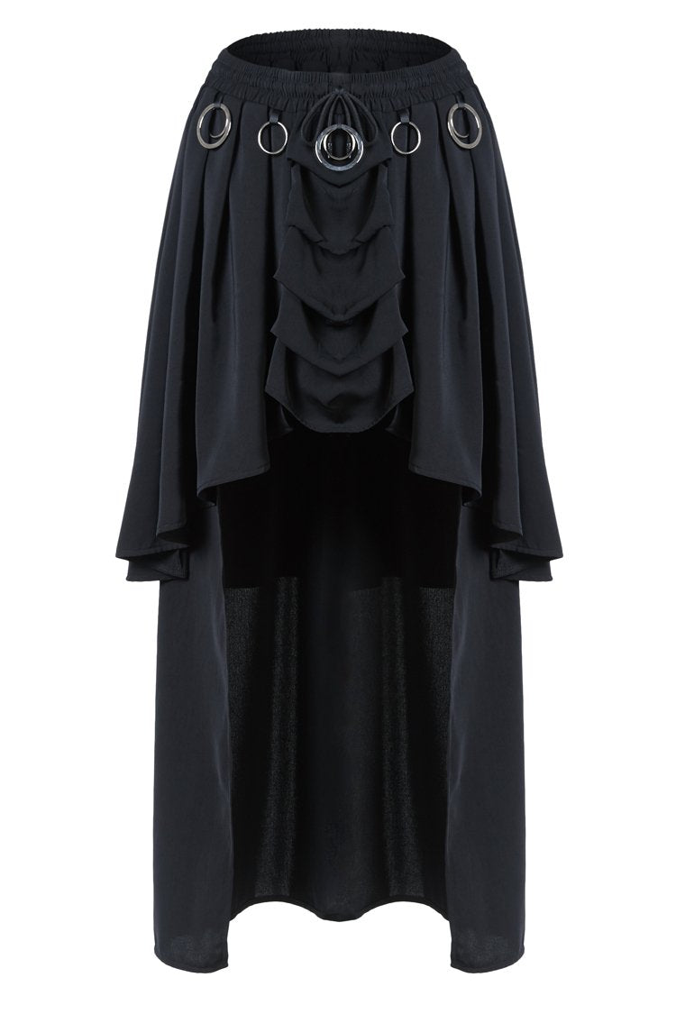 KW113 Gothic ring band cocktail chiffon skirt - Gothlolibeauty