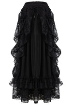Load image into Gallery viewer, KW123BK Gothic eleglant court skirt (price no incl. petticoat) - Gothlolibeauty