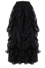 Load image into Gallery viewer, Gothic eleglant court skirt (price no incl. petticoat) KW123BK - Gothlolibeauty