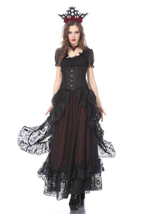 Gothic eleglant court skirt (price no incl. petticoat) KW123RD - Gothlolibeauty