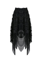 Load image into Gallery viewer, Punk disorderly flower and mesh skirt with irregular hem KW126 - Gothlolibeauty