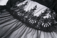 Load image into Gallery viewer, KW128 Gothic long skirt with flower hollow-out design - Gothlolibeauty