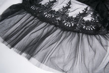 Load image into Gallery viewer, Gothic long skirt with flower hollow-out design KW128 - Gothlolibeauty