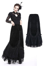 Load image into Gallery viewer, Gothic A-line lacey velvet long skirt KW131 - Gothlolibeauty