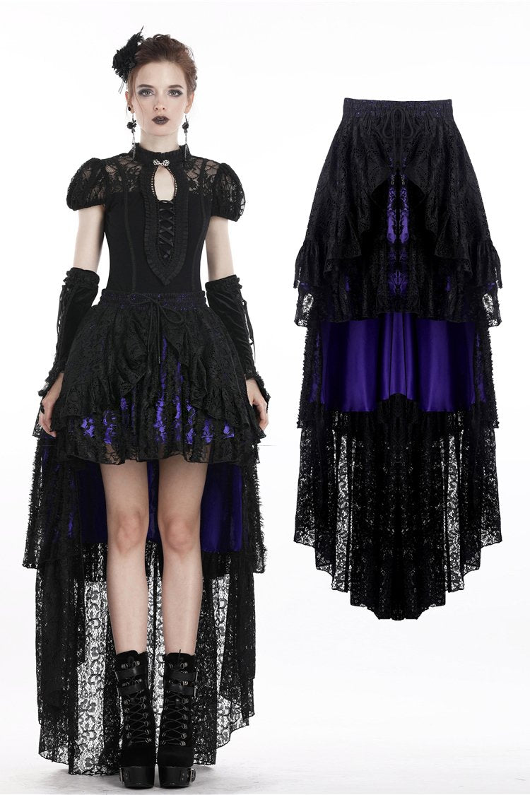 Gothic elegant lace cocktail skirt KW138 - Gothlolibeauty