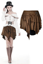 Load image into Gallery viewer, Steampunk irregular short skirt KW163 - Gothlolibeauty