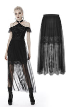 Load image into Gallery viewer, Punk tasseled mesh see-through long skirt KW167 - Gothlolibeauty