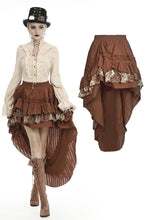 Load image into Gallery viewer, Steampunk frilly cocktail skirt KW185