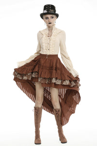 Steampunk frilly cocktail skirt KW185