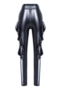 PW081 Punk sexy pleated side legging pants - Gothlolibeauty