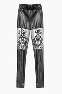 PW082 Gothic leggings with sexy flower on thigh