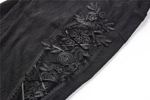 Load image into Gallery viewer, Gothic Black brocade mesh side trousers PW083 - Gothlolibeauty